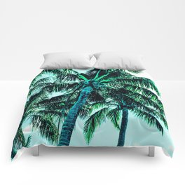 Tropical blues Comforters