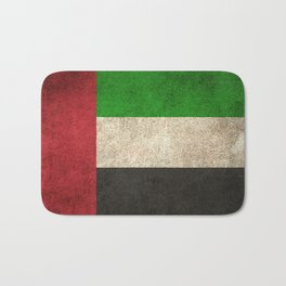 Old and Worn Distressed Vintage Flag of United Arab Emirates Bath Mat