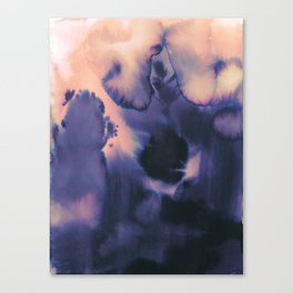 water color wave II collab Dylan Silva Canvas Print