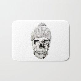 Skull with Hat Bath Mat