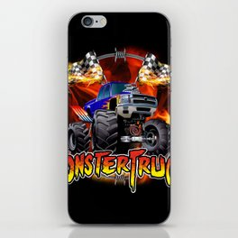 Monster Truck blue on Fire                                          iPhone Skin
