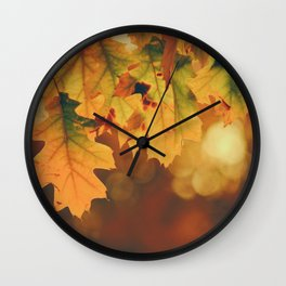 Autumn Leaf (Color) Wall Clock