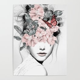 WOMAN WITH FLOWERS 10 Poster