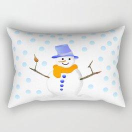 Snowman 01 Rectangular Pillow