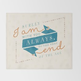 """I am with you"" Bible Verse Print Throw Blanket"