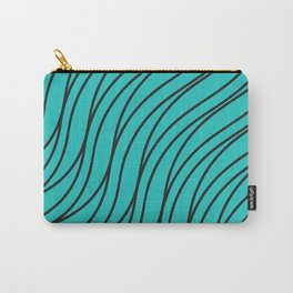Abstract green waves Carry-All Pouch