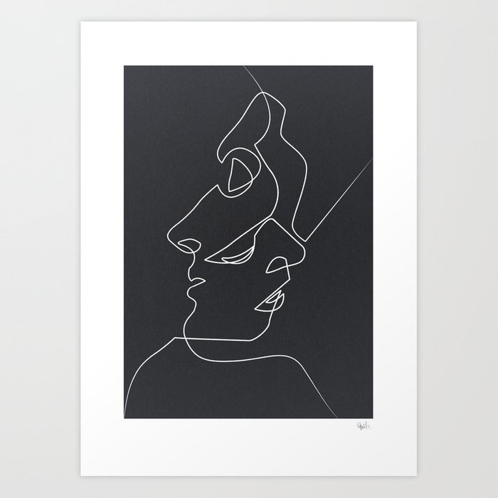 Close Noir Art Print