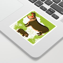 Vintage African Hippo Zoo Ad Sticker