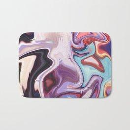 pixel glitch marble Bath Mat