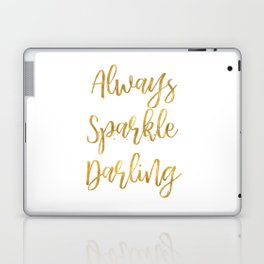 Gold Always Sparkle Darling Laptop & iPad Skin