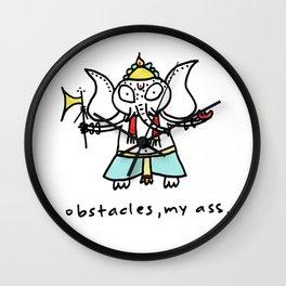 obstacles, my ass (ganesha) Wall Clock