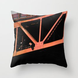 Crosshairs - Golden Gate Bridge San Francisco Throw Pillow