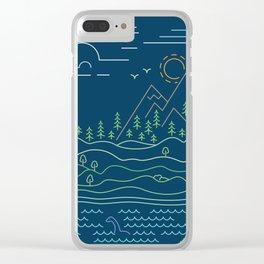 Outdoor solitude - line art Clear iPhone Case