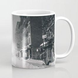 Alone in a Blizzard - New York City Coffee Mug