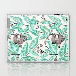 Happy Sloth – Tropical Mint Rainforest Laptop & iPad Skin