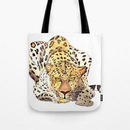 Watercolor leopard Tote Bag