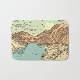 Mountain, Train & Lake Bath Mat
