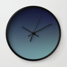 NIGHT SWIM - Minimal Plain Soft Mood Color Blend Prints Wall Clock