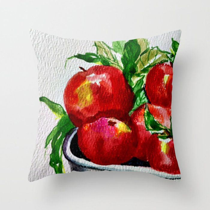 Life is Just a Bowl of Apples Throw Pillow