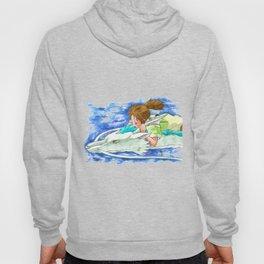 Ghibli Spirited Away Sky Illustration Hoody