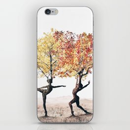 Dancing trees iPhone Skin