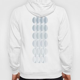 Leaves in the mist - a pattern in ice gray Hoody