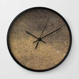 Black Yellow Sandpaper Texture Wall Clock