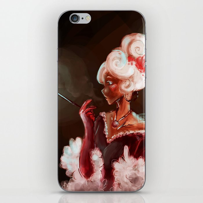 Red Velvet Lady iPhone Skin