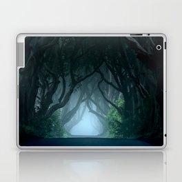 Cold foggy morning in Dark Hedges Laptop & iPad Skin