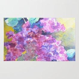 Bold Color Lilacs Rug