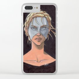 Helene Aquilla Clear iPhone Case