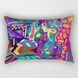 Brilliant Colors and Shapes Rectangular Pillow