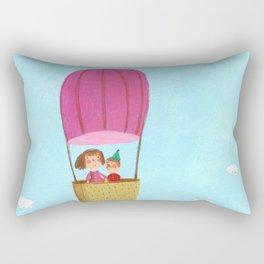 Hot Air Love Ballon Rectangular Pillow