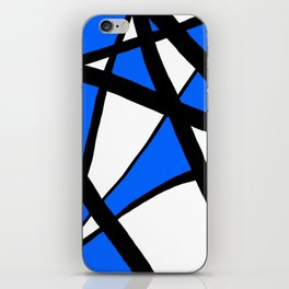 China Blue Geometric Triangle Abstract iPhone Skin