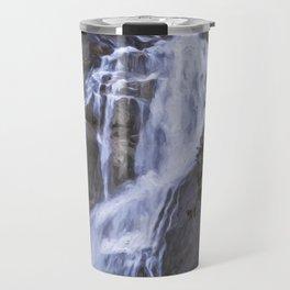Tranquility Of Creation - Waterfall Art Travel Mug