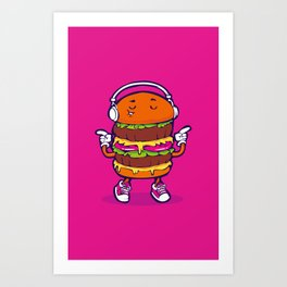 Dancing Burger Art Print