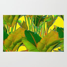 GOLDEN TROPICAL FOLIAGE GREEN & GOLD LEAVES AR Rug