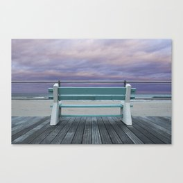 Jersey Shore Bench Canvas Print