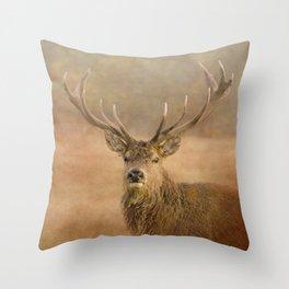 Autumn Stag Throw Pillow