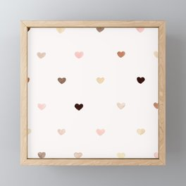 Sweet hearts Framed Mini Art Print