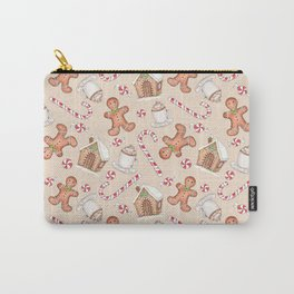 Gingerbread & Peppermint Repeat Pattern -Holiday Pattern Carry-All Pouch