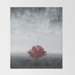 the RED tree ll Throw Blanket