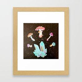 Shroomin' Around Framed Art Print