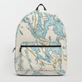 Vintage Muskoka Lakes Map Backpack