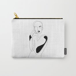 Lined pose Carry-All Pouch