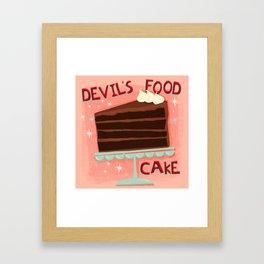 Devil's Food Cake An All American Classic Dessert Framed Art Print