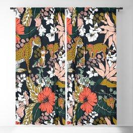 Animal print dark jungle Blackout Curtain