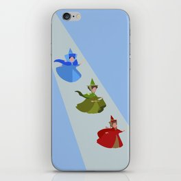 3 Fairies (Blue)  iPhone Skin