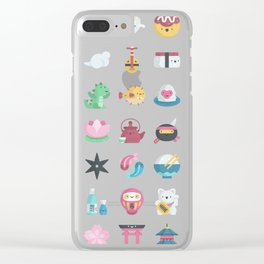 CUTE JAPANESE PATTERN Clear iPhone Case