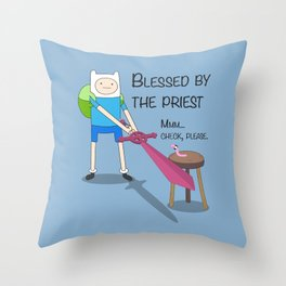 Blessed by the Priest Throw Pillow